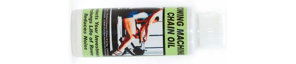 Chain oil for indoor rowing machines.