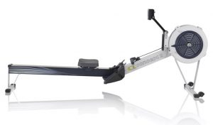 Concept 2 Model D indoor rower light grey.
